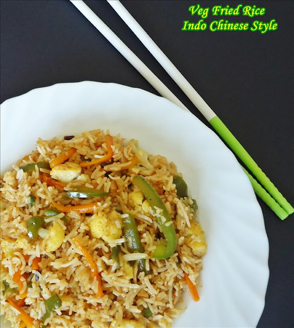 indo chinese veg fried rice recipe