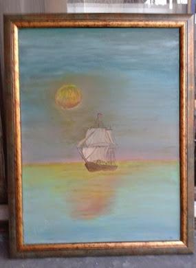 umetnička slika Galija,ulje na platnu ,umetnik Vladisav art Bogićević-udruženje slikara Luna Niš