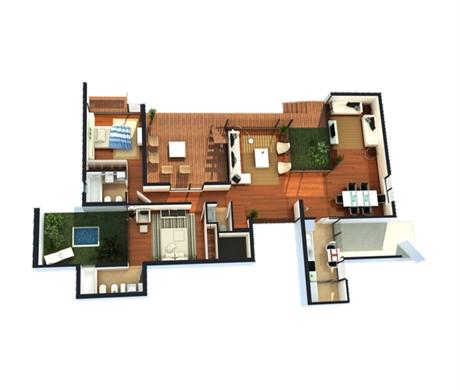Planos de casas y plantas arquitect nicas de casas y - Planos de casas modernas de una planta ...
