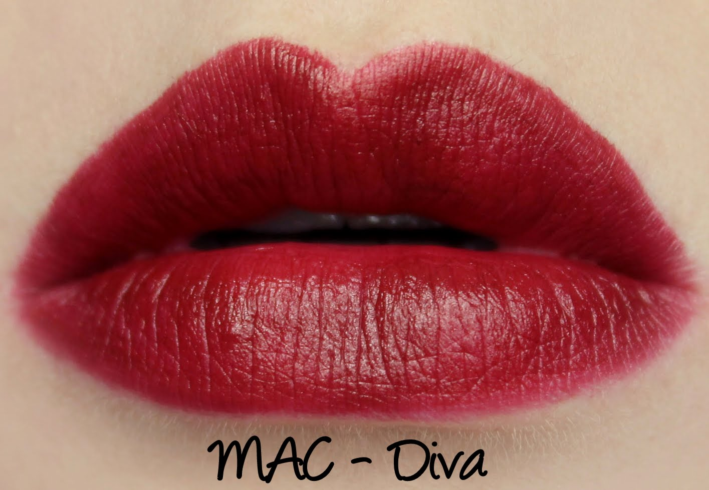 MAC Diva lipstick swatches & review