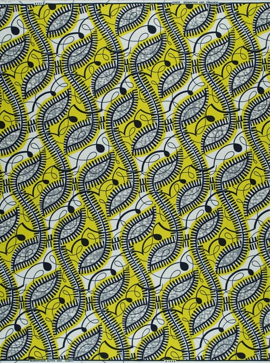 Safari Fusion blog | Hello yellow | Vlisco Parade of Charm wax print fabric