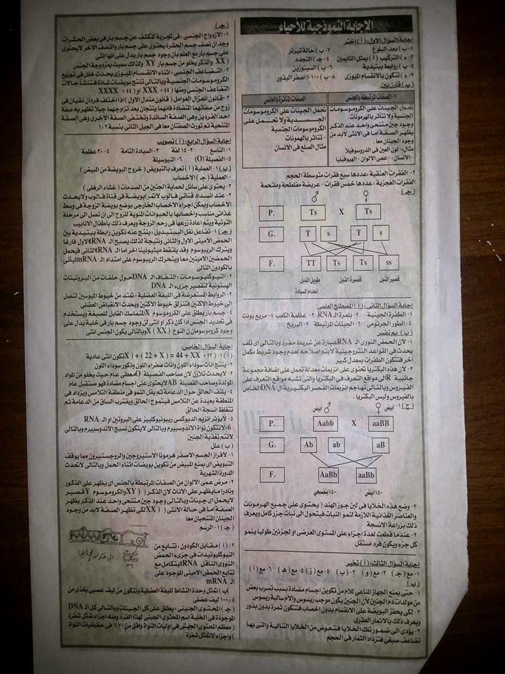 امتحان احياء ثالثة ثانوى السودان نظام حديث 2015 + نموذج الاجابة الرسمى Www.modars1.com_0003