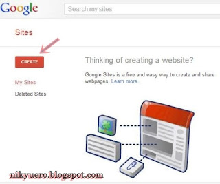 Mendaftar di google sites