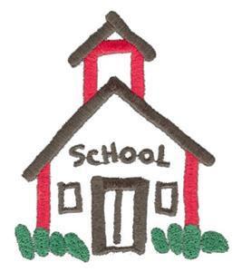 dibujo infantil de colegio