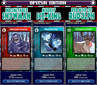 Christmas Special Edition cards at Superhero City