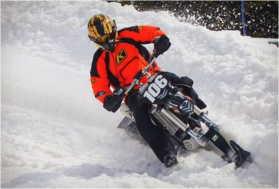 Mountain Horse snow bike kit | Mountain Horse Dirt Bike Snow Conversion Kit | Bike Snow Conversion Kit | Timbersled Snowbike
