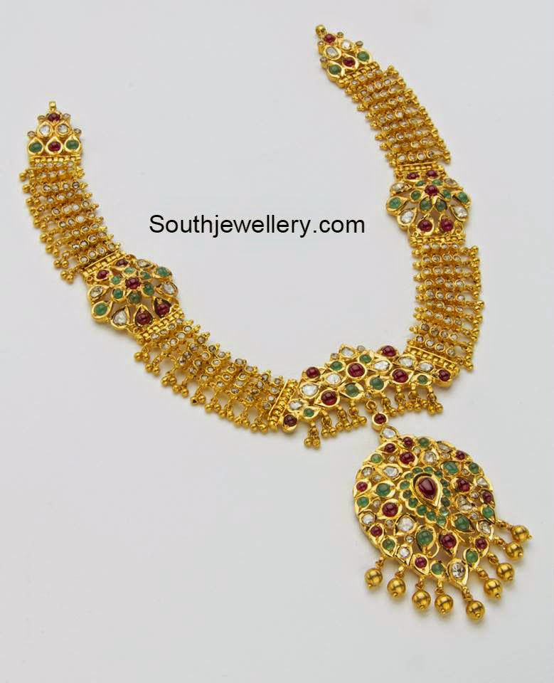 broad gold necklace