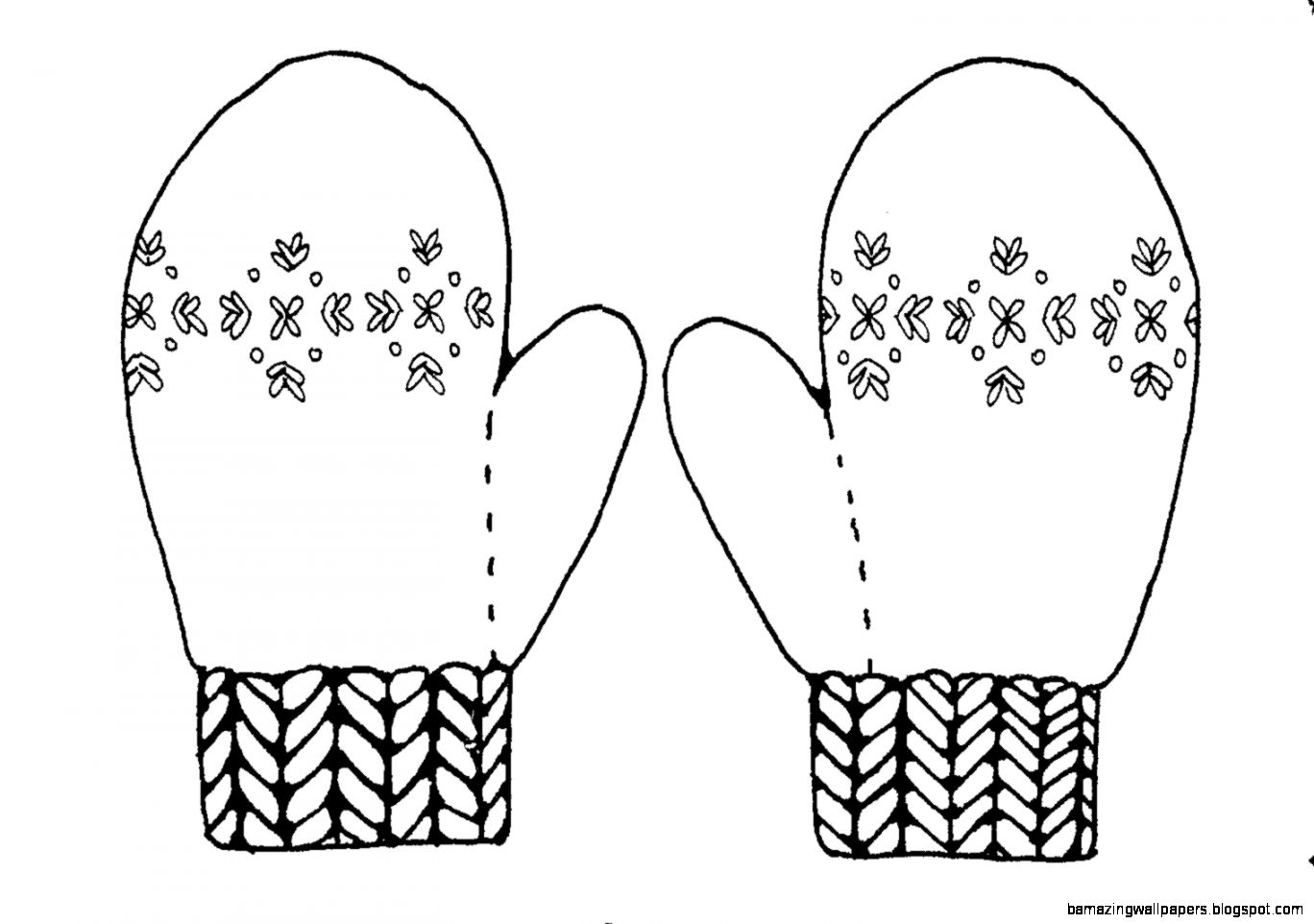 Black And White Mitten Clipart   Clipart Kid