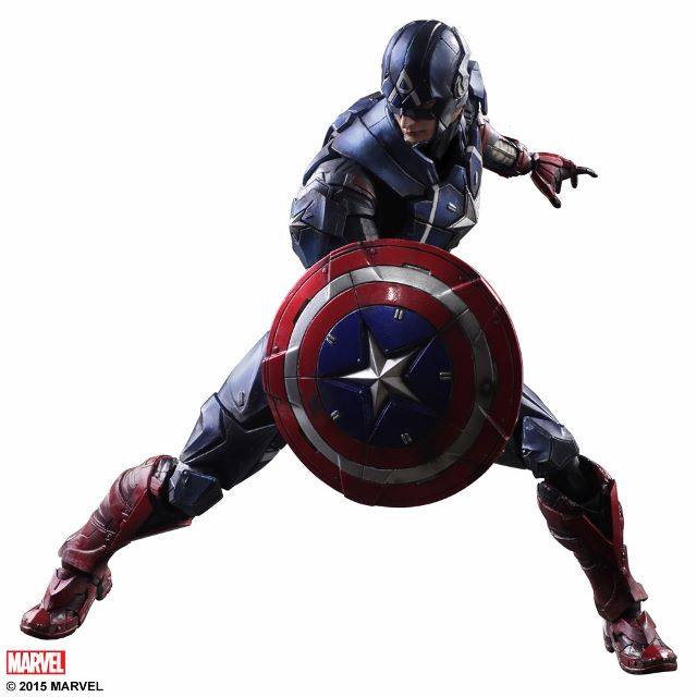 Play Arts Kai Captain America Action Figure