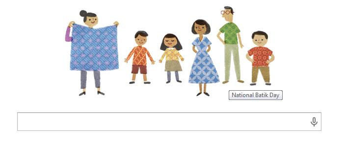 Google peringati hari batik nasional