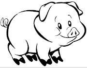 Desenhos para colorir. Desenhos para colorir, pintar, desenhar, porco, . (desenho colorir pintar porquinho)