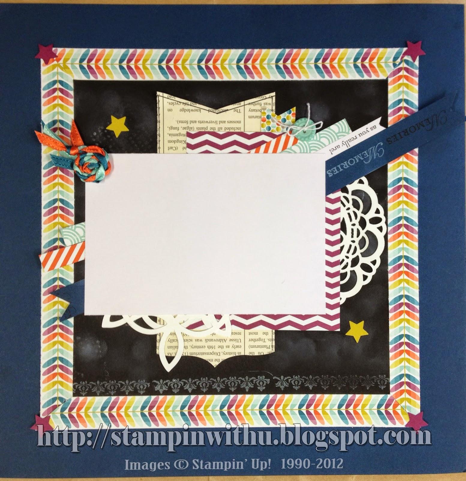 12x12 Scrapbook Page - Chalkboard Technique