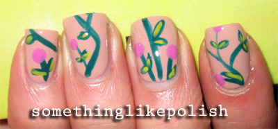 pattern flower nature nail art