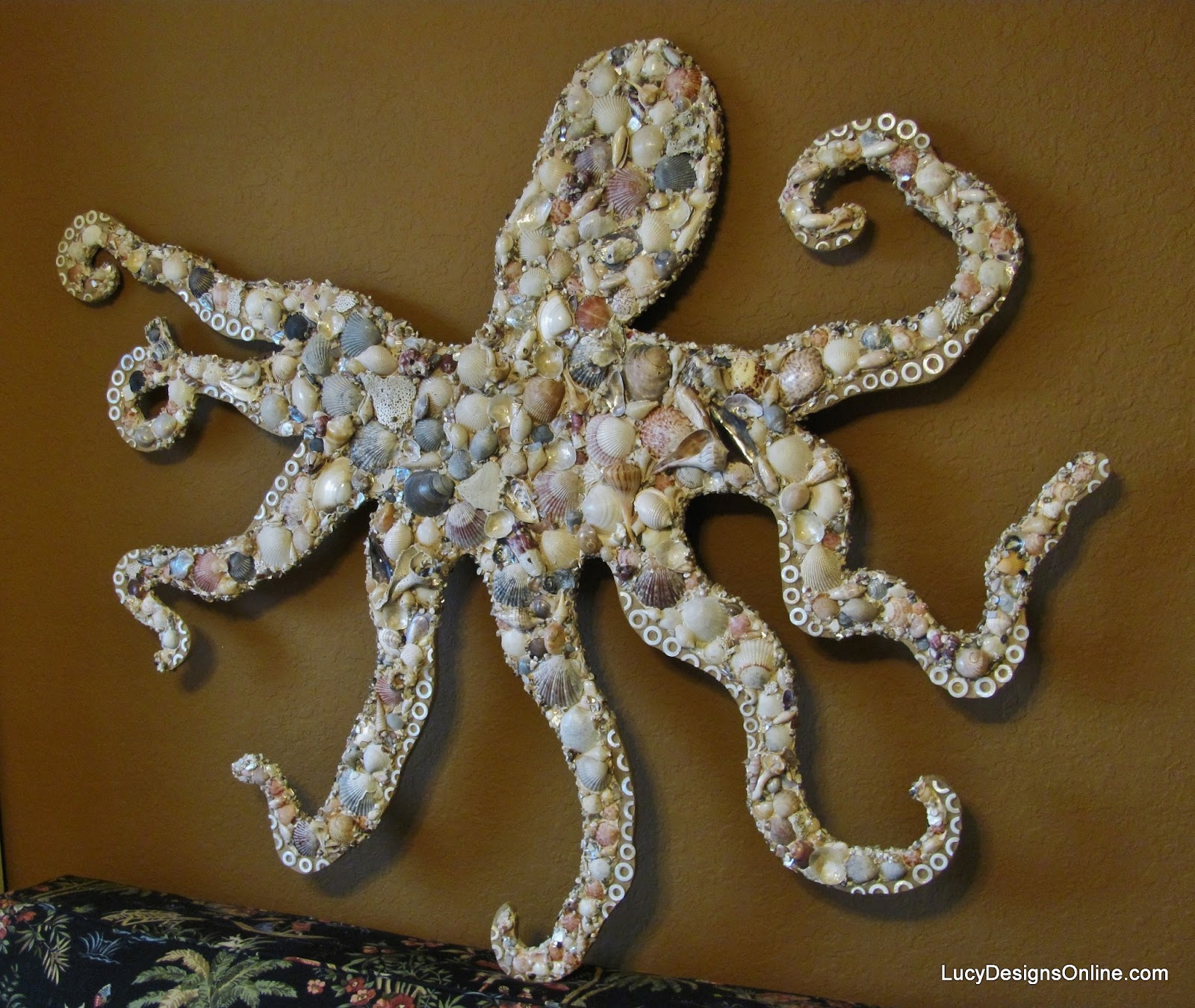 octopus seashell mosaic art