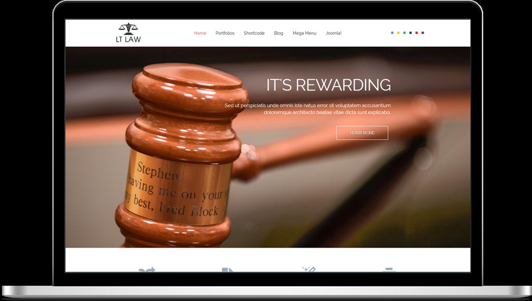LT Law Onepage - Free Joomla! Template