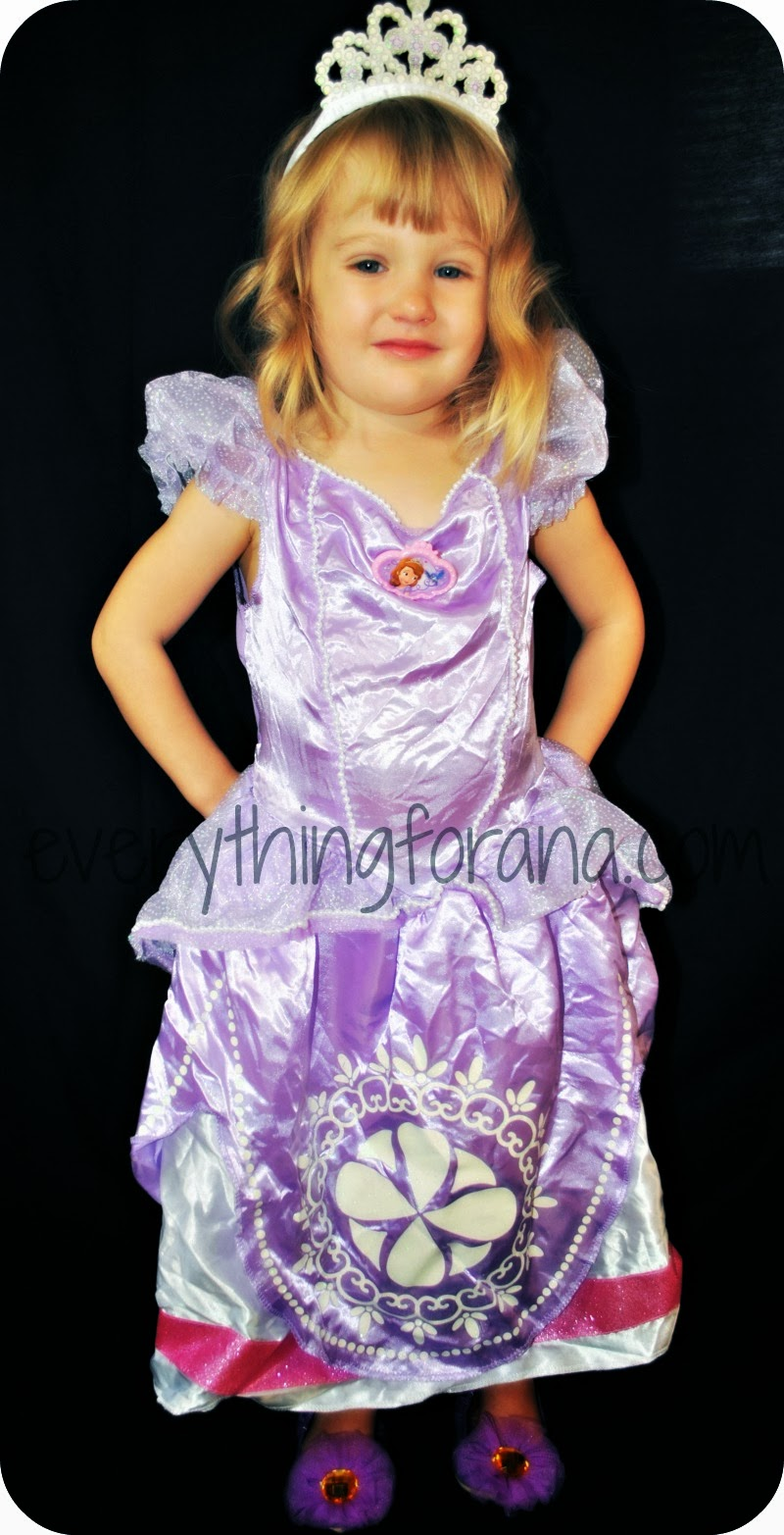 everything for ana: review: sofia the first princess toddler costume