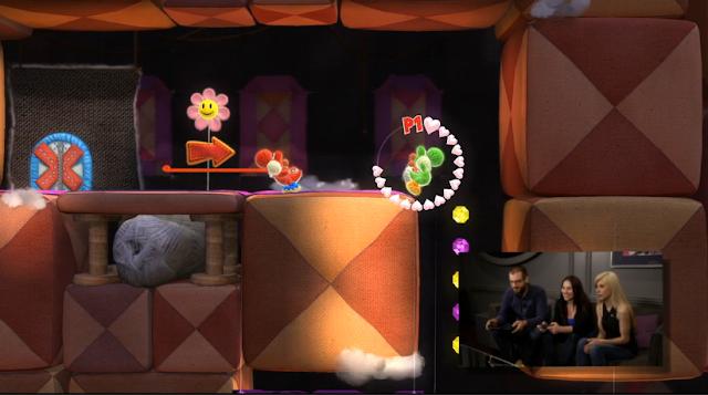 Yoshi's Woolly World teeter animation Yoshi co-op