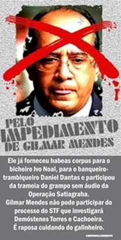 Fora Gilmar!!! Impeachment já!!!