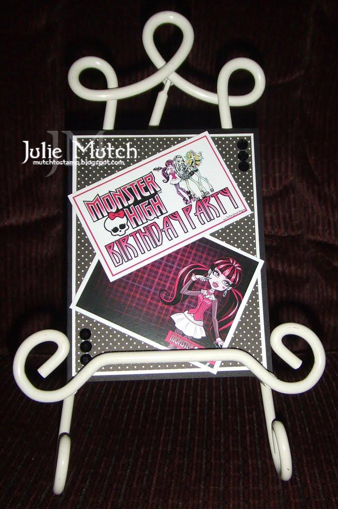 Mutch to Stamp: Monster High Birthday Invites