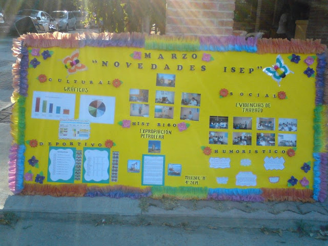 El docente de telesecundaria el peri dico mural en for Estructura de un periodico mural