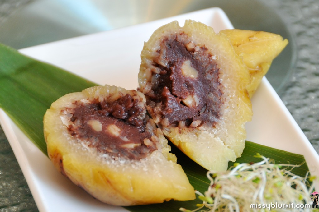 Glutinous Rice Dumpling with Red Bean Paste and Lotus Seed