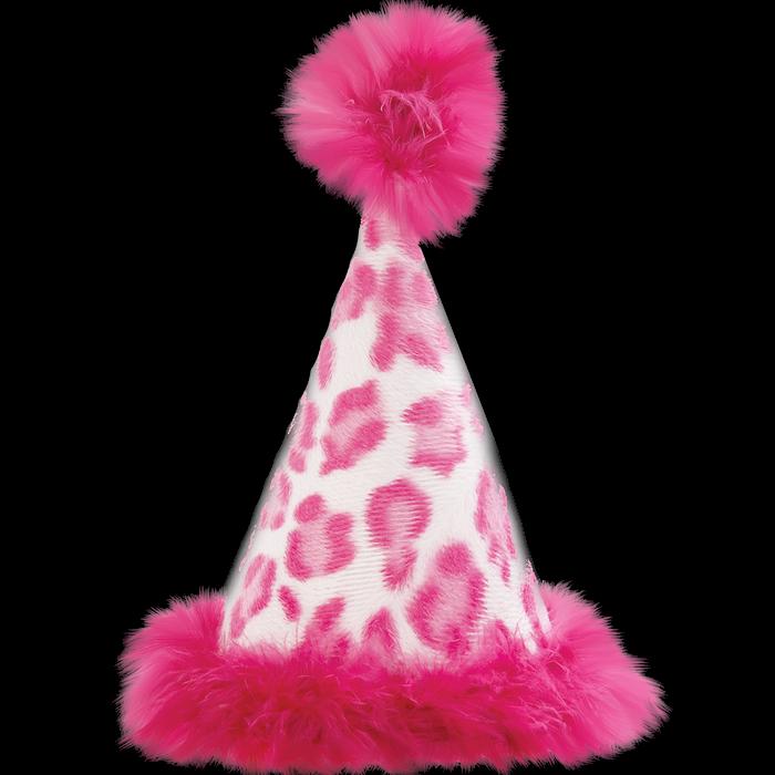 gorro de cumpleaños rosa