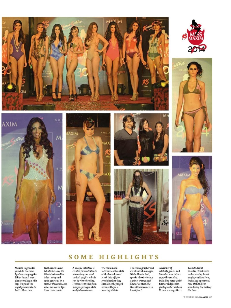 Miss Maxim 2014 HQ Pictures Maxim India Magazine Photoshoot February 2014