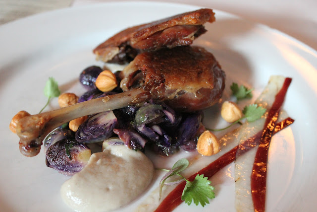 Duo of Rohan duck at Beacon Hill Bistro, Boston, Mass.