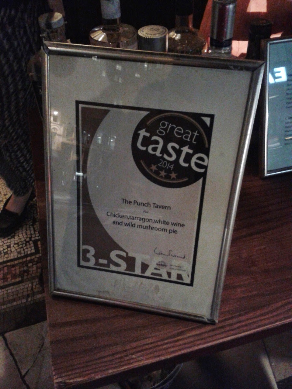 Punch Tavern Pie Great Taste Award