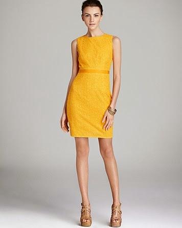 modelo de vestido tubinho amarelo