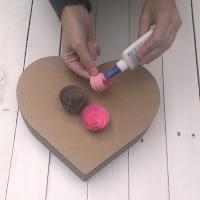 corazón de cartón decoración san valentín