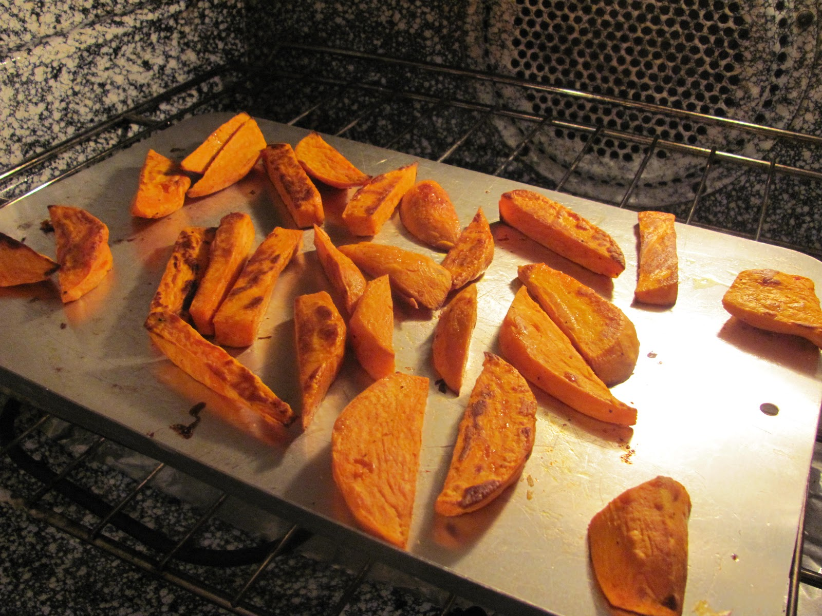 how to make roasted sweet potato fries