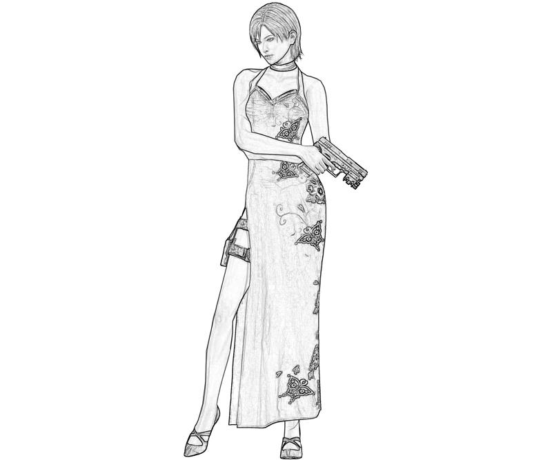 ada wong coloring pages - photo#8