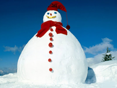 Big Free Snowman Background Wallpaper