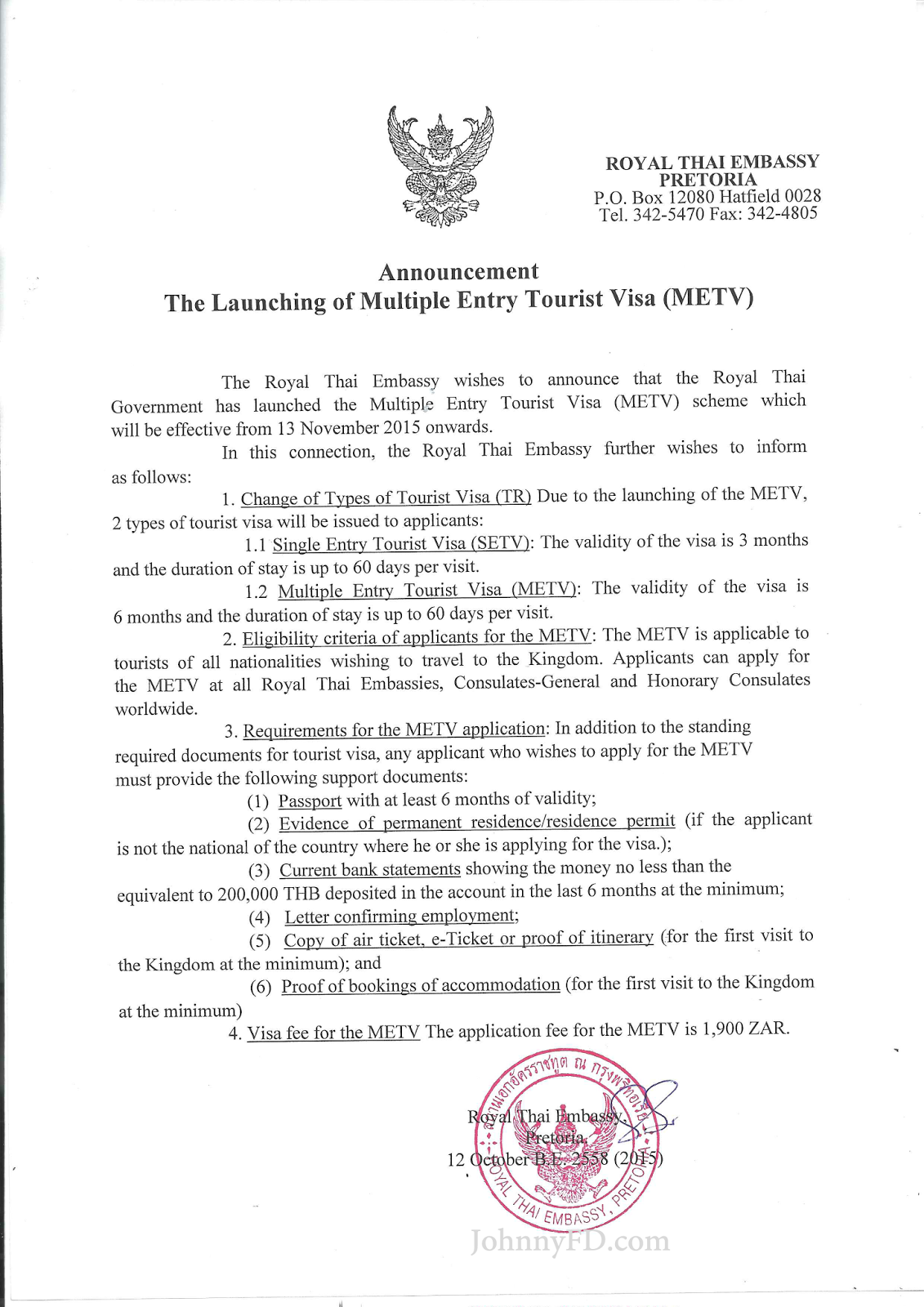 but heres the official announcement by the royal thai embassy on behalf of the thai government themselves