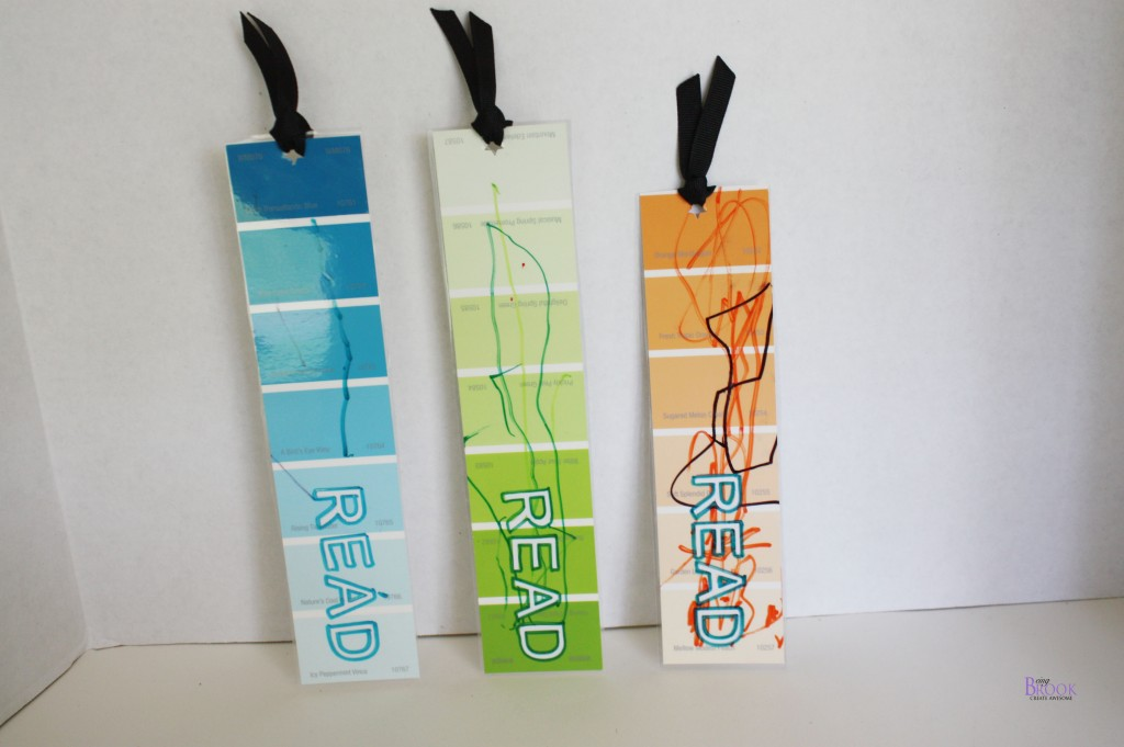 paint chip bookmarks  handmade holiday