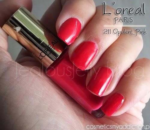 L'oreal Paris, lakier do paznokci 211 Opulent pink