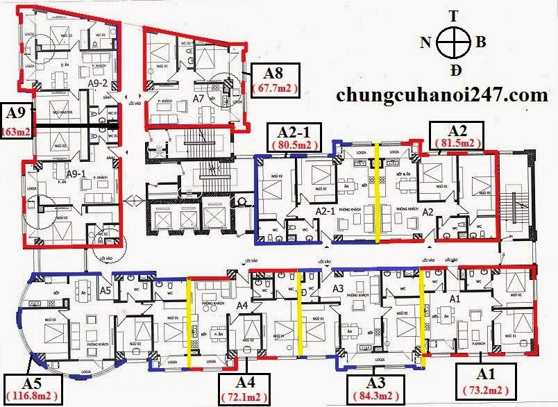Chính chủ bán chung cư CT2B Cổ Nhuế, căn hộ A2 tằng 5 diện tích 81.5 m2
