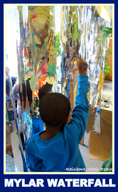 "Reggio Arts Infused ""Jungle Classroom"" via RainbowsWithinReach w/Mylar Waterfall"