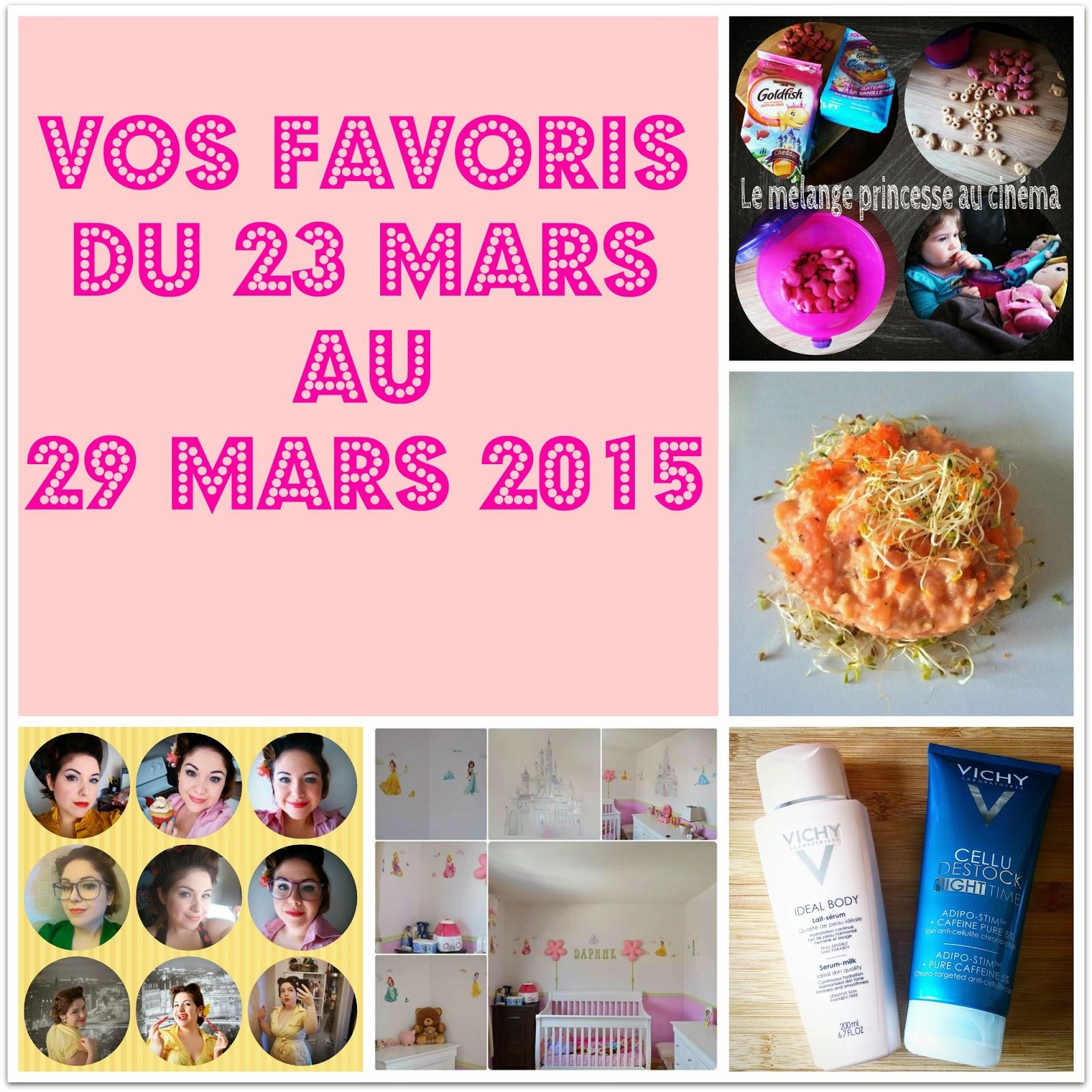 Vos favoris du 23 mars au 29 mars 2015...Rose! Oui Rose!