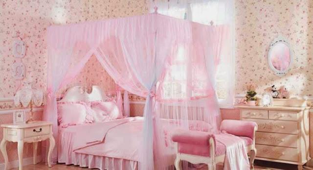 Foto kamar tidur anak perempuan Barbie