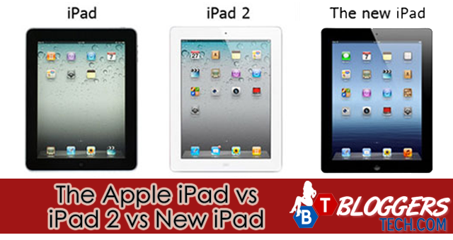 The Apple iPad vs iPad 2 vs New iPad