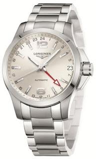 Montre Longines Conquest GMT référence L3.687.4.76.6