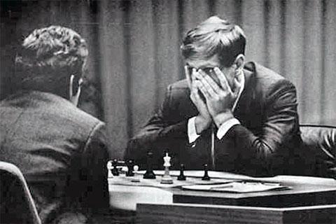 Le match du championnat du monde d'échecs entre Fischer et Spassky à Reykjavic en 1972