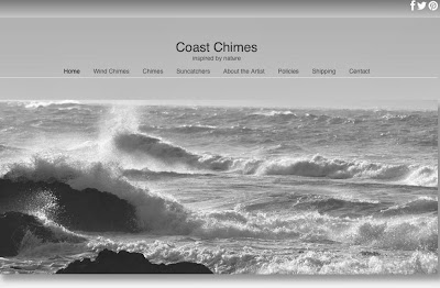 Picture of the homepage of Coast Chimes website.