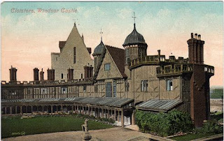 Vintage postcard of the Cloisters, Windsor Castle