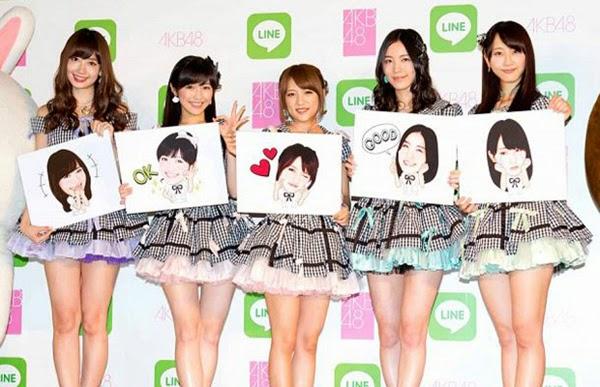 Las primeras 16 integrantes de la Elección Senbatsu de AKB48 tendrán sus stickers en LINE