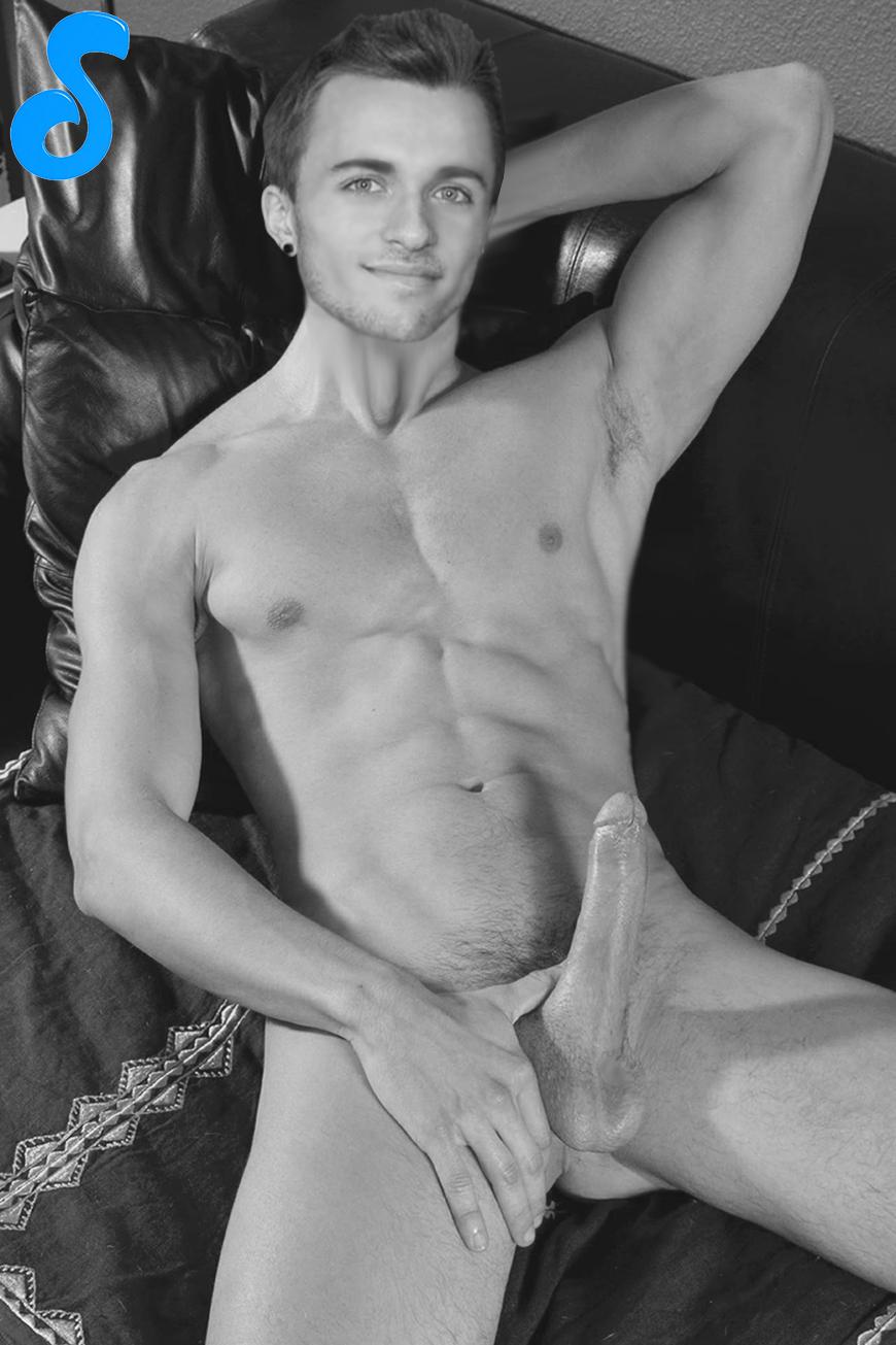 Beautiful naked woman saying good morning