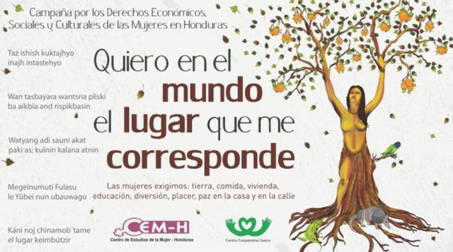 CAMPAÑA  POR LOS DERECHOS ECONÓMICOS, SOCIALES Y CULTURALES DE LAS MUJERES  EN HONDURAS
