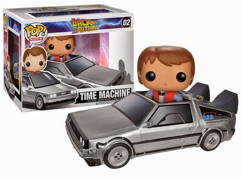 Cabezón Marty McFly y Delorean